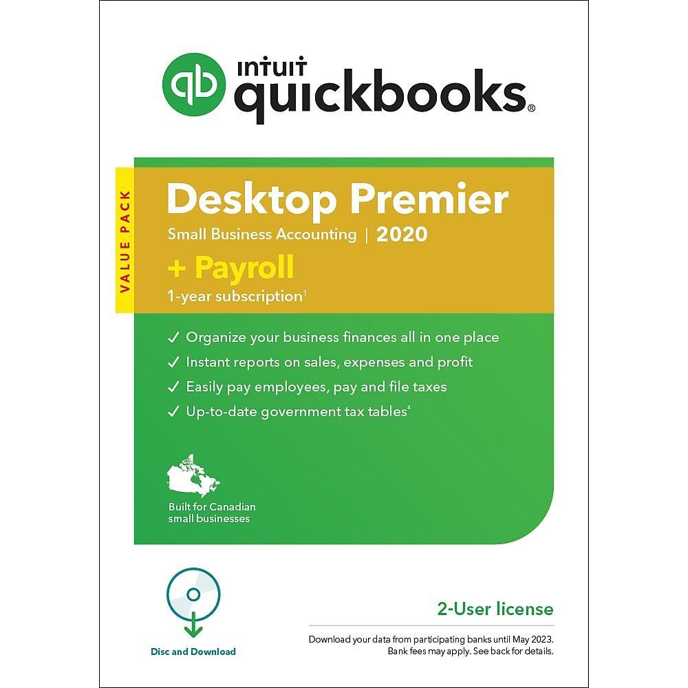Intuit Desktop Premier Payroll 2020