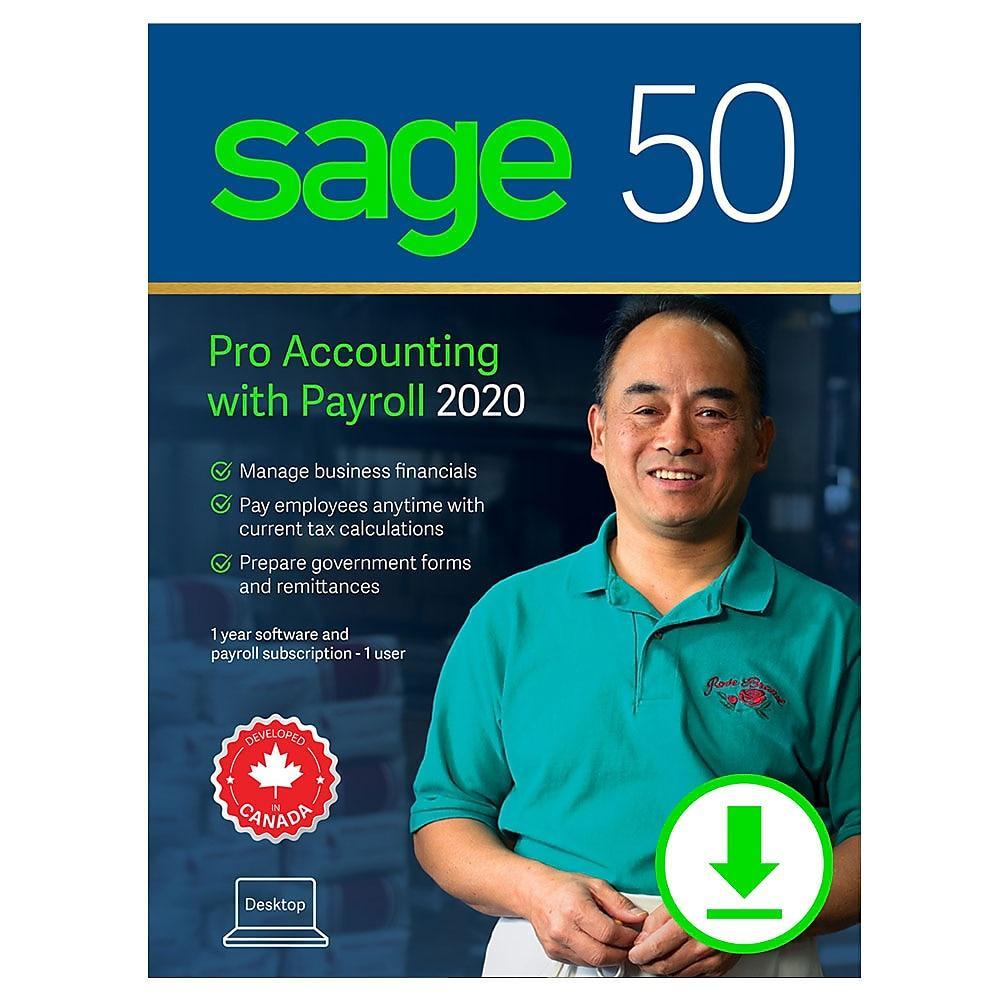 Sage 50 Pro with Payroll 2020 Retail Box